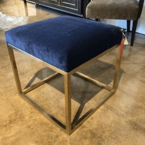 Wesley & Wesley - Brass Cube Ottoman