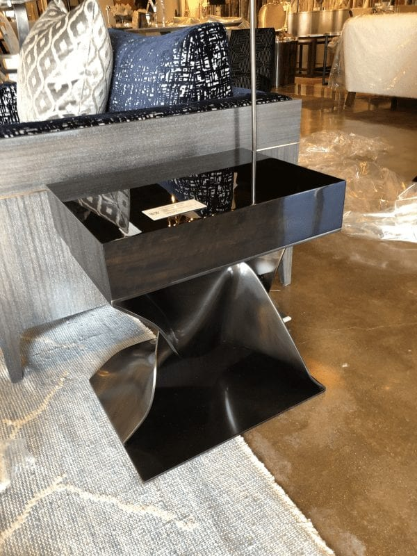 William and Wesley Bronze Twist Side Table