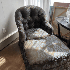 William and Wesley Clinton Chair and Ottoman