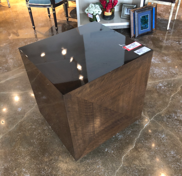 William and Wesley Cube End Table