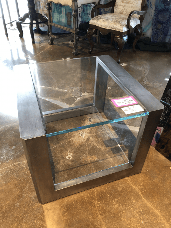 William and Wesley Cubist End Table