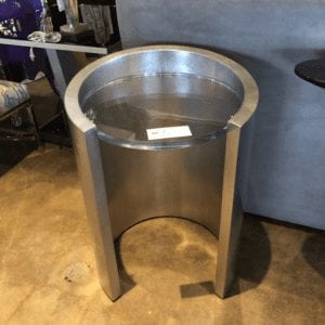 William and Wesley Cylinder Side Table