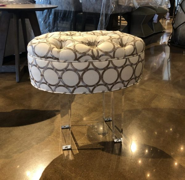 William and Wesley Oval Ottoman Small