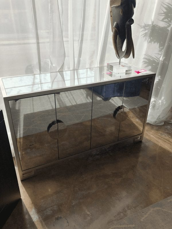 William & Wesley - Mirrored Bar Cabinet