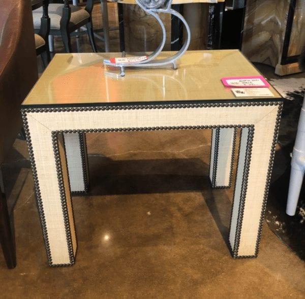 Wesley & Wesley - Raffia Side Table