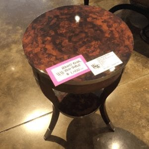Wesley & Wesley - Round Burl End Table