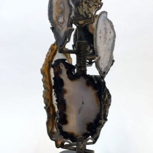 Agate Slice Sculpture by Ryan Zechiel