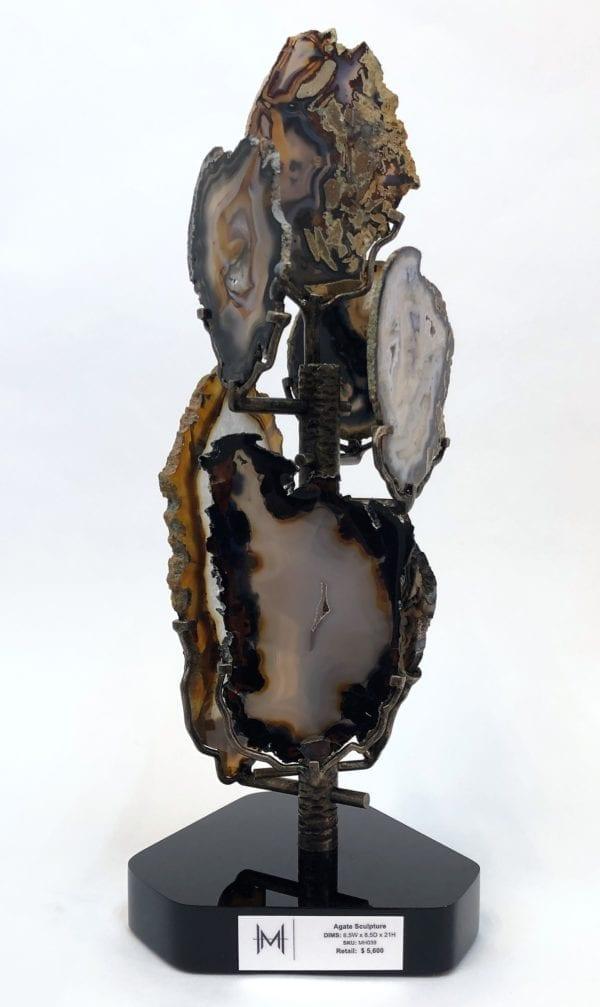 Agate Slice Sculpture by Ryan Zechiel