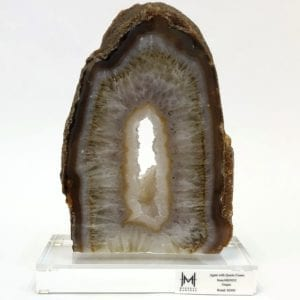 Agate Slice with Quartz