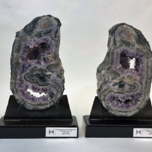 Amethyst Quartz Pair
