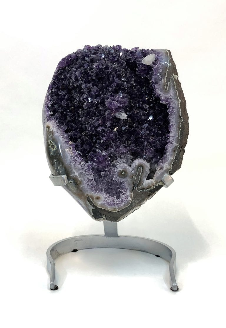 Amethyst with Calcite Crystals