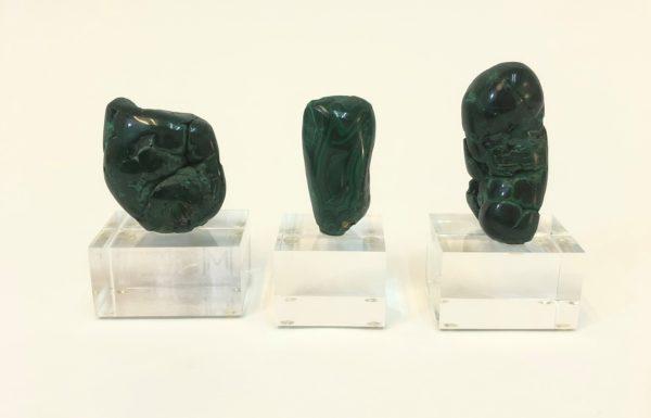 Malachite Set of Three