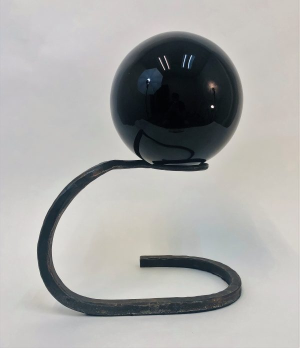 Obsidian Sphere Sculpture