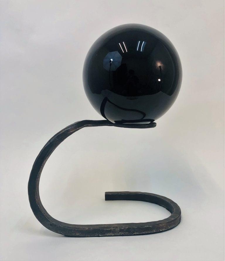 Obsidian Sphere Sculpture