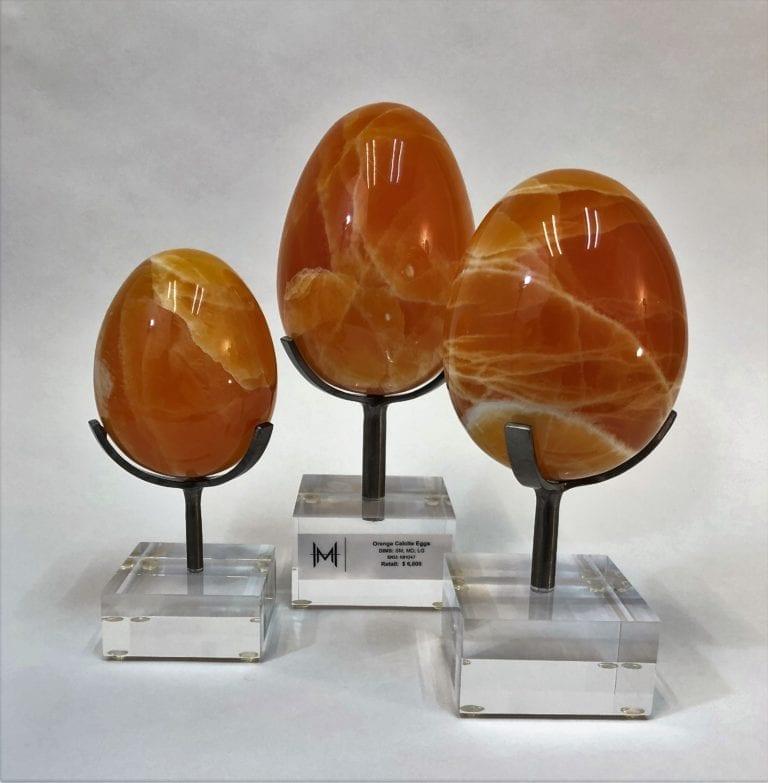 Orange Calcite Eggs