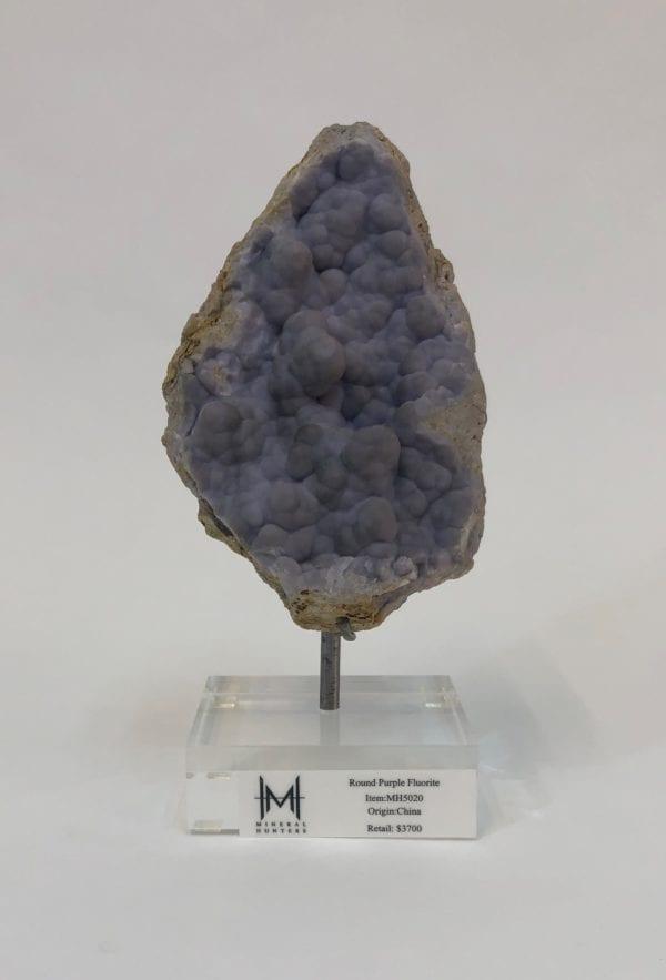 Rounded Purple Fluorite
