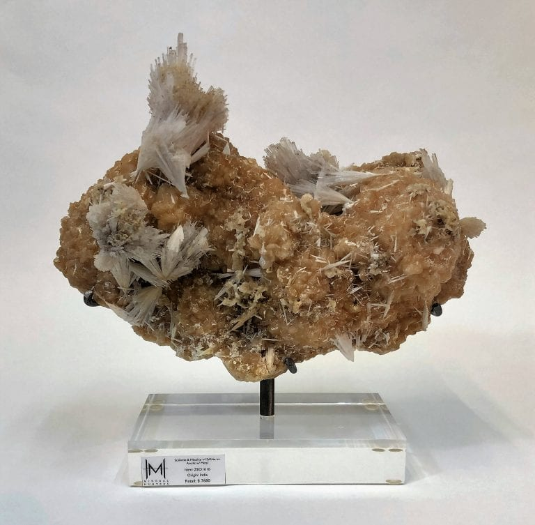 Scolecite and Mesolite with Stilbite